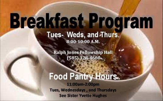 Breakfast Program  Starts back on Sept. 13th)
